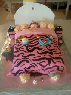 cake i made for girls slumber party bday