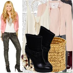 """""""hannah montana goes to the principal office."""" by valerieking ❤ liked on Polyvore"""