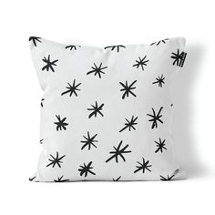 This monochrome Star Pattern scatter cushion is perfect for a kids bedroom, your own bedroom or even for your lounge. Cushion cover size: x