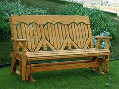 amish high back heart glider bench leisure lawns collection create an oasis in your backyard with