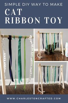 DIY Cat Play Gym - make this craft for your cat If your cat loves to play but is never satisfied with the toys you buy - Homemade Cat Toys, Diy Cat Toys, Pet Toys, Kitten Toys, Cat House Diy, Diy Cat Bed, Cat Room, Animal Projects, Cat Crafts
