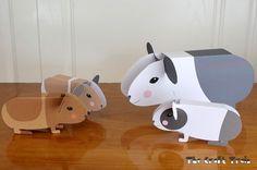 Kijk wat ik gevonden heb op Freubelweb.nl: een gratis printable van The Craft Train om cavia's te maken https://www.freubelweb.nl/freubel-zelf/zelf-maken-met-papier-cavia/