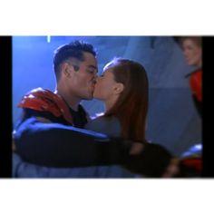 Kissing Dean Cain in Futuresport via Vanessa__Willie, instagram