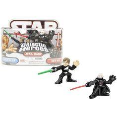 Star Wars Galactic Heroes Luke Skywalker & Darth Vader @ niftywarehouse.com #NiftyWarehouse #Geek #Products #StarWars #Movies #Film