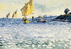 boats by Henri Edmond Cross