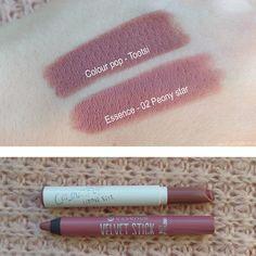 @marusionna • Instagram (lipstick dupe) Colourpop - tootsi vs. Essence - peony…