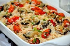 |Receita| Arroz de Mexilhão Portuguese Recipes, Portuguese Food, Kung Pao Chicken, Risotto, Grilling, Meals, Ethnic Recipes, Couscous, Portugal