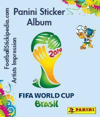 Panini World Cup 2014 Brazil Album Cover FootballStickipedia.com Artists Impression