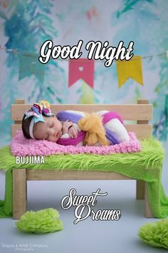 Newborn Girl in colourful wrapping. Good Night Baby, Good Night Sweet Dreams, Good Night Moon, Good Night Image, Good Morning Good Night, Good Night Blessings, Good Night Wishes, Good Night Quotes, Born Baby Photos