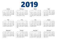 blank printable calendar 2019