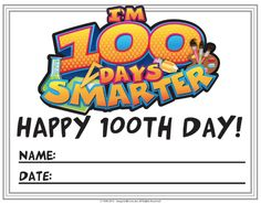 100th Day worksheets and certificate FREE!