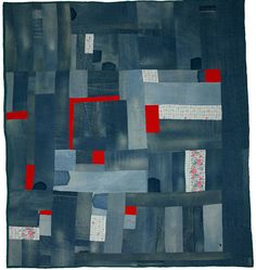 Gees Bend Quilt.  I like the idea of incorporating found fabric with my dyed fabric.