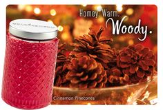 Cinnamon Pinecones Herritage® is homey, warm and woody with notes of crushed pinecone, woods & cinnamon. www.jackiefix.mygc.com