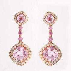 Pink Kunzite & Diamonds