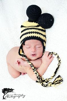 bee crochet hat free pattern