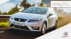 Offre Leon ST Premium : 329 euros / mois sans apport : http://seat-versailles.com/actualites-seat-sporting-autos/61/offre-leon-st-premium--329-euros--mois-sans-apport   #leon #leonst #carsofpinterest #cars
