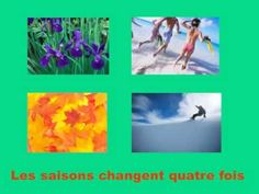 Les saisons changent quatre fois, a song to learn the four seasons and what activities are done then as well as the weather French Teaching Resources, Teaching French, French Websites, Seasons Song, Learning French For Kids, Season Calendar, French Worksheets, Smart Board Lessons, French Songs