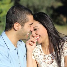 Arab casual couple flirting laughing happy in a park. Close up of an arab casual , #AD, #couple, #flirting, #Arab, #casual, #laughing #ad