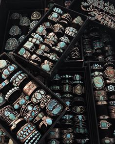 Piles and piles of insane turquoise stones