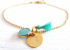 Namensarmbänder - Armband // GRAVUR & PLAKETTE // smaragd - ein Designerstück von fraeuleinfrida-schmuckmanufaktur bei DaWanda
