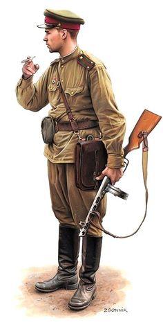 D. Zgornik. Russian Infantry Lieutenant.