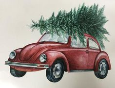 Classic Beetle with Christmas Tree Transfer – Sage Creek Originals Christmas Decals, Merry Christmas, Christmas Truck, Christmas Quotes, Christmas Wallpaper, Christmas Signs, Christmas Pictures, Christmas Time, Vintage Christmas