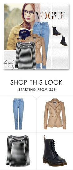 """""""This is the story of Amelia Pond...and this is how it ends..."""" by prettylittletimelord ❤ liked on Polyvore featuring Topshop, Balmain, Frame Denim and Dr. Martens"""