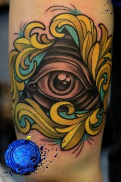 My all seeing eye tattoo, was done a few months ago now :) submitted by http://ihitabongonce.tumblr.com