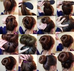 I've been wanting to learn how to do this for so long! Well, I better start practicing... #hairdo#bun#formal#donut#brown