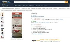 TOE-EZY is now available on #amazon. http://www.toeezy.com/shop/
