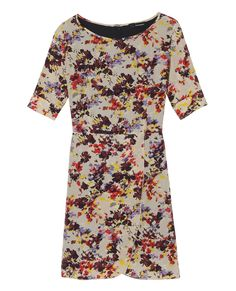 Floral silk dress - Dress - Women - The Kooples