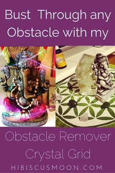 Don't Waste Time! Bust Through any Obstacle with My Obstacle Remover Crystal Grid! http://hibiscusmooncrystalacademy.com/obstacle-remover-crystal-grid/ + Grab my Free Downloadable Recipe:  Hibiscus Moon Obstacle Remover Gem Elixir Spray