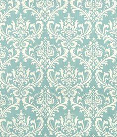 Premier Prints Ozbourne Village Blue/Natural Fabric - $7.45 | onlinefabricstore.net