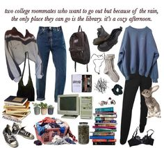 -`all kinds of outfits´ School Looks, Aesthetic Fashion, Aesthetic Clothes, Aesthetic Memes, Vintage Outfits, 50s Outfits, 90s Fashion, Fashion Outfits, Mode Grunge