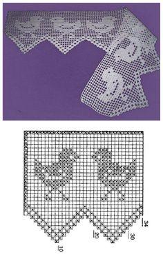 Meninas! Aí está para vocês umas amostras de um aviario.Galos, galinhas e pintinhos nos motivos dos barrados de crochê.