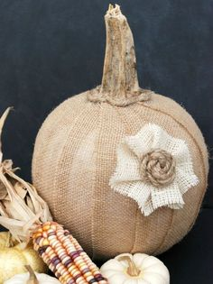 This canvas-covered pumpkin is perfect to display all autumn, as it works for both Halloween and Thanksgiving. Get the tutorial at Bread Booze Bacon.