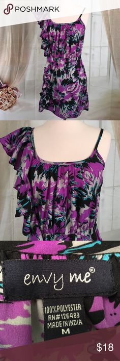 "Envy Me Purple Dress Super cute purple dress.  Elastic waist.  100% polyester.  Excellent condition.  Size M.  Bust 28 and length 31"" DR11 Envy Me Dresses"