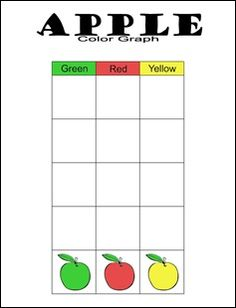 FREE printable for My Father's World Kindergarten - Apple graph