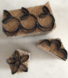 Vintage embroidery stamps used with creating old linens.