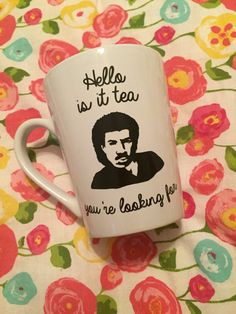 This mug is perfect for anyone who loves Lionel Richie or anyone with a good sense of humor! Decal can be made in your choice of color. Made