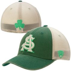 promo code 955bf f743a Arizona State Sun Devils Top of the World Vintage Luck 1Fit Hat - Green