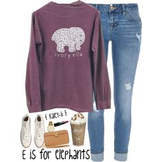 E is for Elephants by kaley-ii on Polyvore featuring polyvore, fashion, style, River Island, Converse, Tory Burch, Kate Spade and NARS Cosmetics