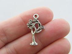6 Tree charms 23 x 13mm tibetan silver T19 by nicoledebruin