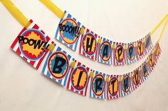 Super banner. Printable Birthday Banner, Diy Birthday Banner, Diy Banner, 5th Birthday, Birthday Party Themes, Birthday Ideas, League Of Heroes, Superhero Party, Best Part Of Me