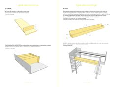 DIY furniture plan for a loft bed. Dutch Design tailor-made for do-it-yourself by Neo-Eko