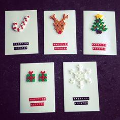 Christmas cards Hama string pearls – Welcome Hama Beads Design, Diy Perler Beads, Perler Bead Art, Noel Christmas, Homemade Christmas, Christmas Ornaments, Hamma Beads Ideas, Christmas Perler Beads, Iron Beads