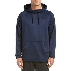 Nike Nike Men's Therma Pullover Hoodie ($40) ❤ liked on Polyvore featuring men's fashion, men's clothing, men's hoodies, blue, mens patterned hoodies, mens hoodies, mens blue hoodies, cheetah print mens hoodie and mens sweatshirts and hoodies