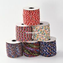 Colorful National Rope Cloth Cords for Lanyard making Mixed Color about (Mainland)) Cords, Color Mixing, Sewing Crafts, Arts And Crafts, China, Colorful, Fabric, How To Make, Tejido