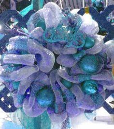 Christmas wreath,  turquoise