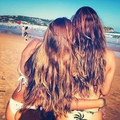 Long hair don't care , best friends